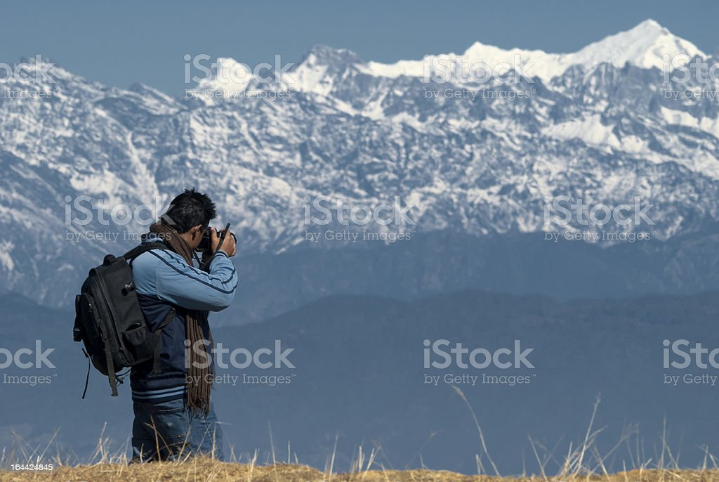 Photographing the Mountain stock photo