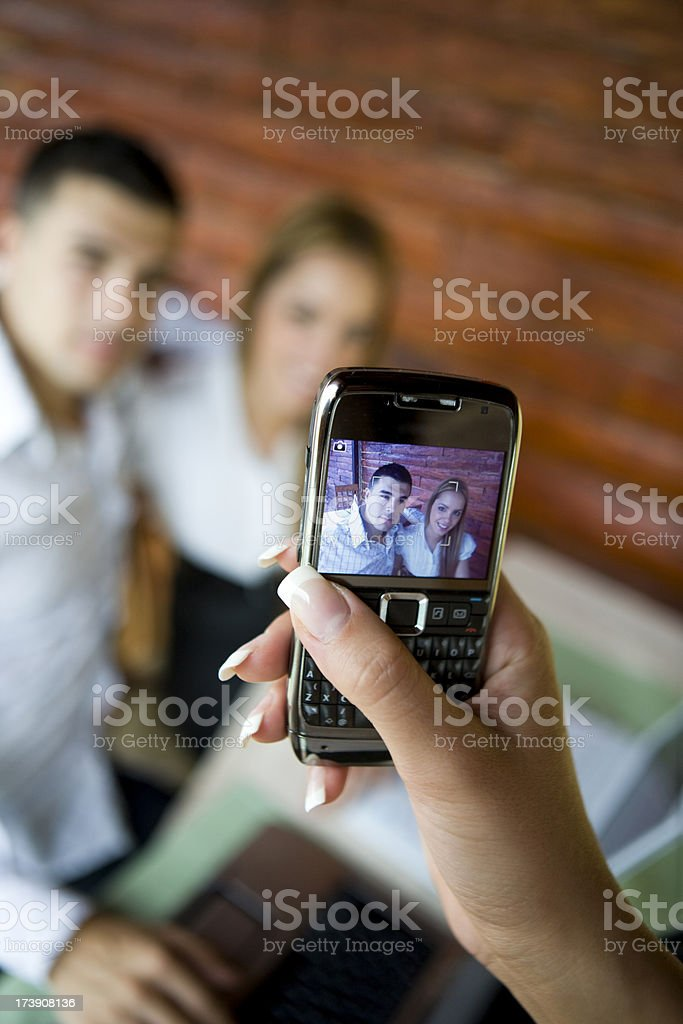 Photographing with Camera Phone royalty-free stock photo