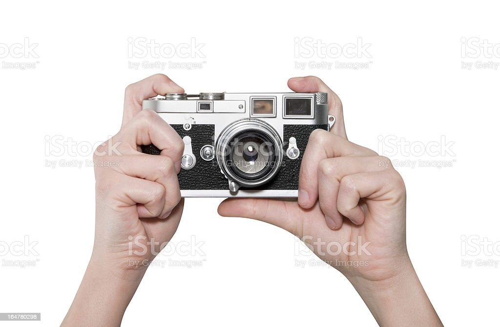 Photographing with Classic Camera royalty-free stock photo