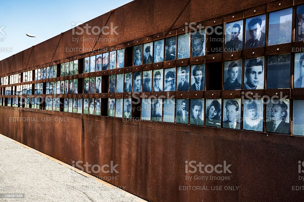 Photographs of the fallen during Cold War in Berlin Germany stock photo