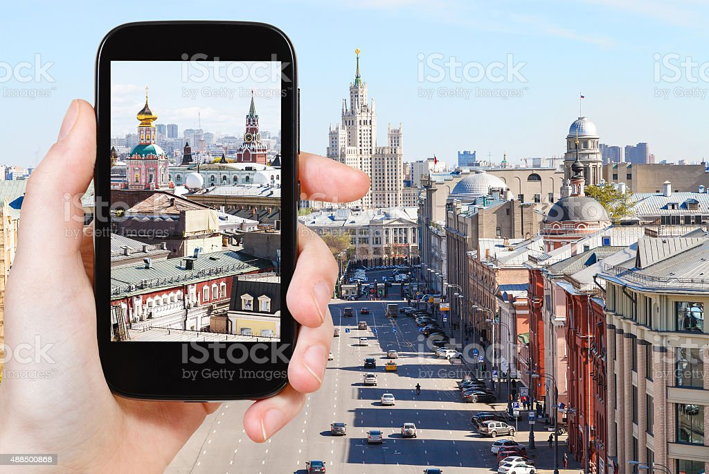 photographs picture of Moscow street stock photo