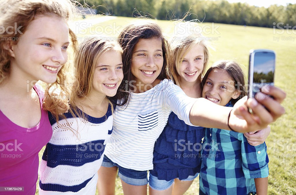 Photographs with friends! royalty-free stock photo