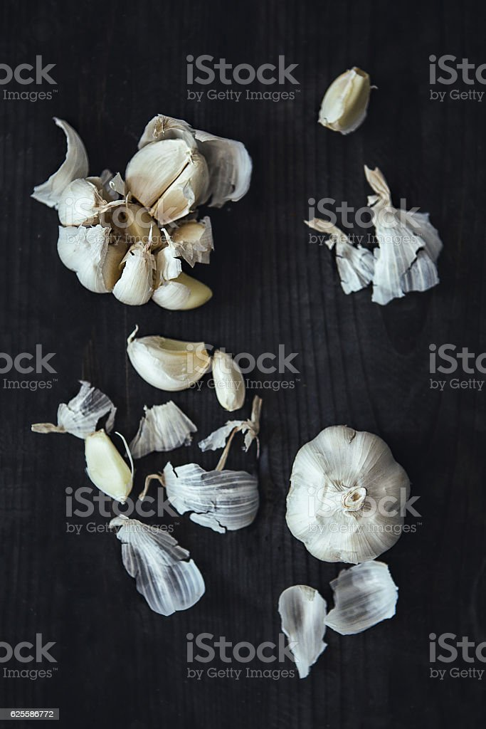Photography Art of a garlic bulb stock photo