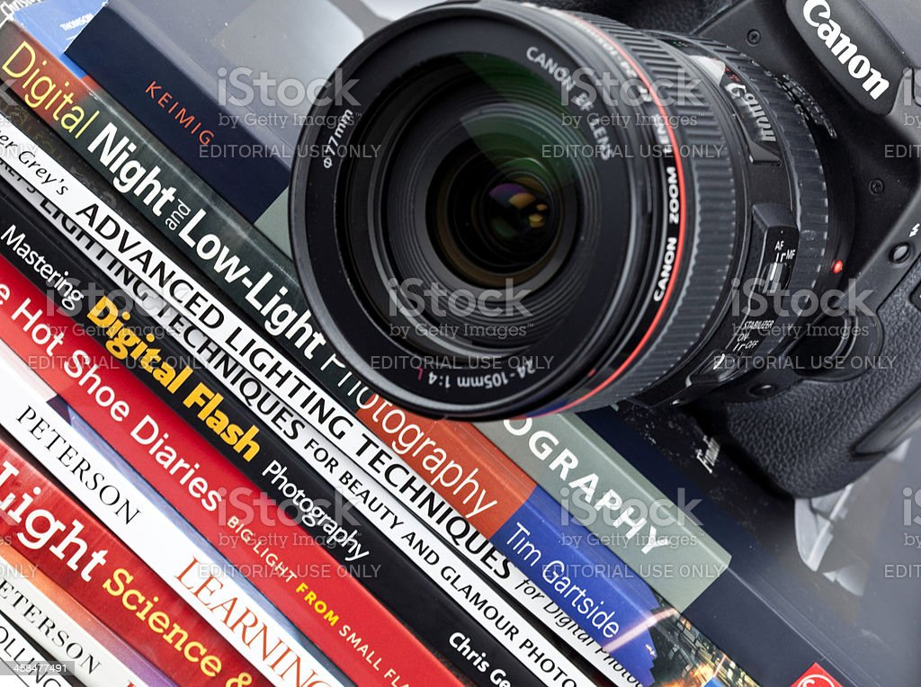 Photography Books and Camera royalty-free stock photo