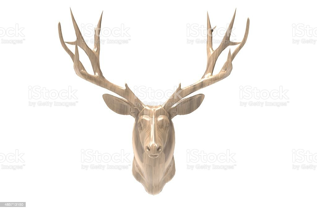 Photography Deer Head and Isolated bcakground stock photo