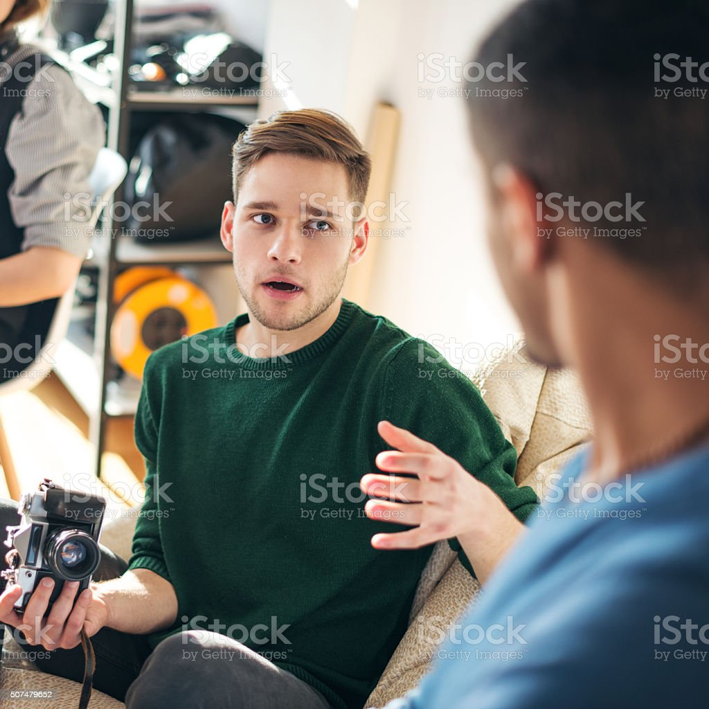 Photography is his passion stock photo