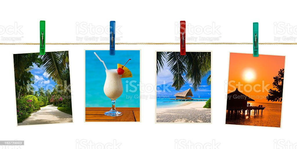 Photography of nature hung using clothespins royalty-free stock photo