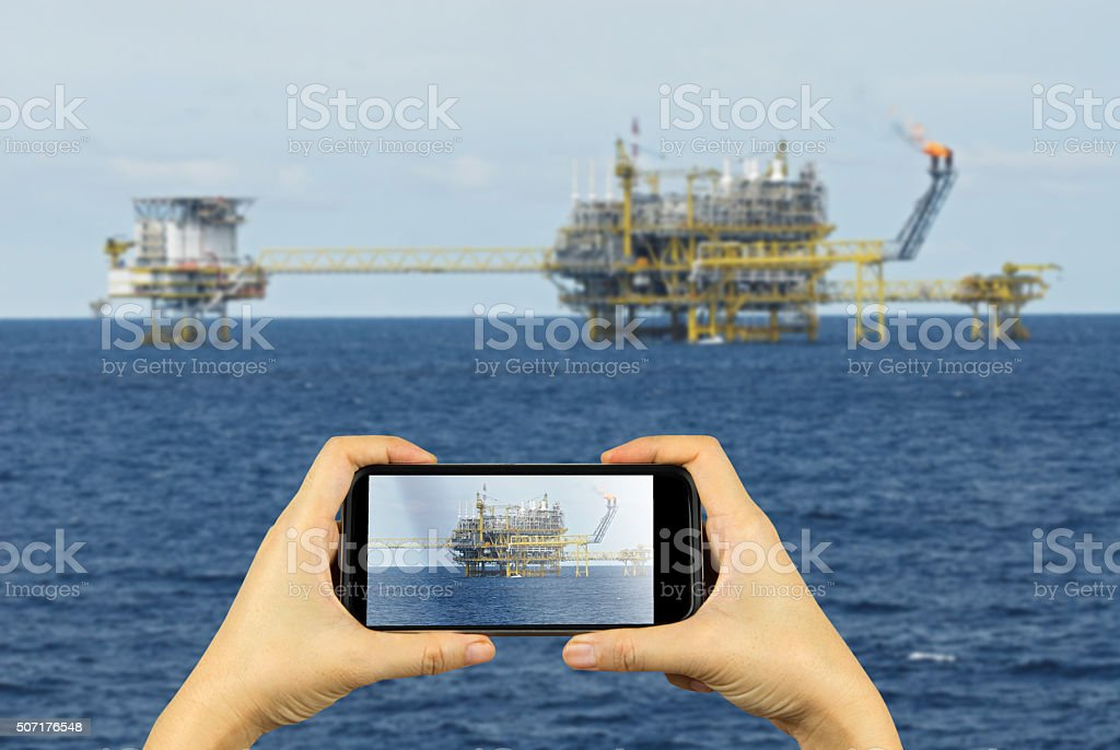 Photography rig with smartphone stock photo