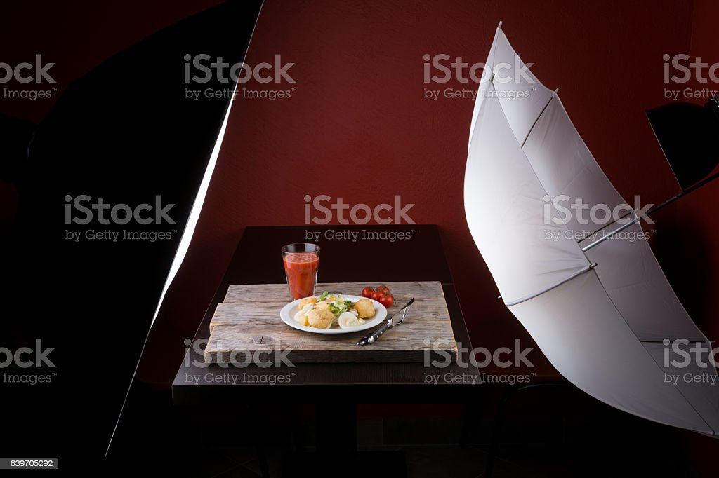 Photography set for food advertisment stock photo
