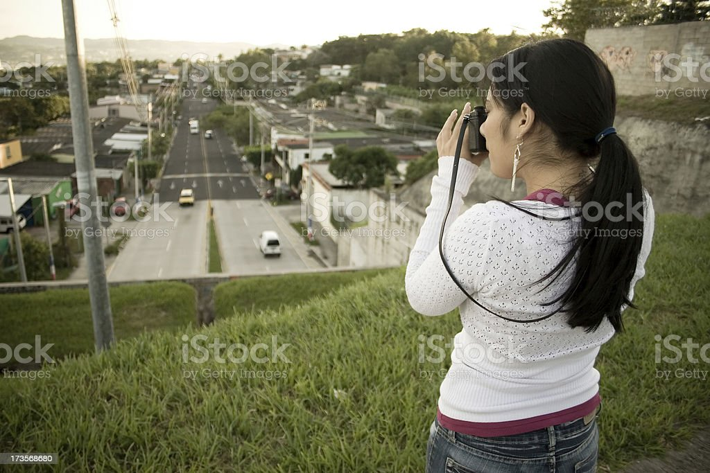 Photogtaphing El Salvador stock photo