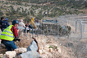 Photojournalists at West Bank protest in Bil'in
