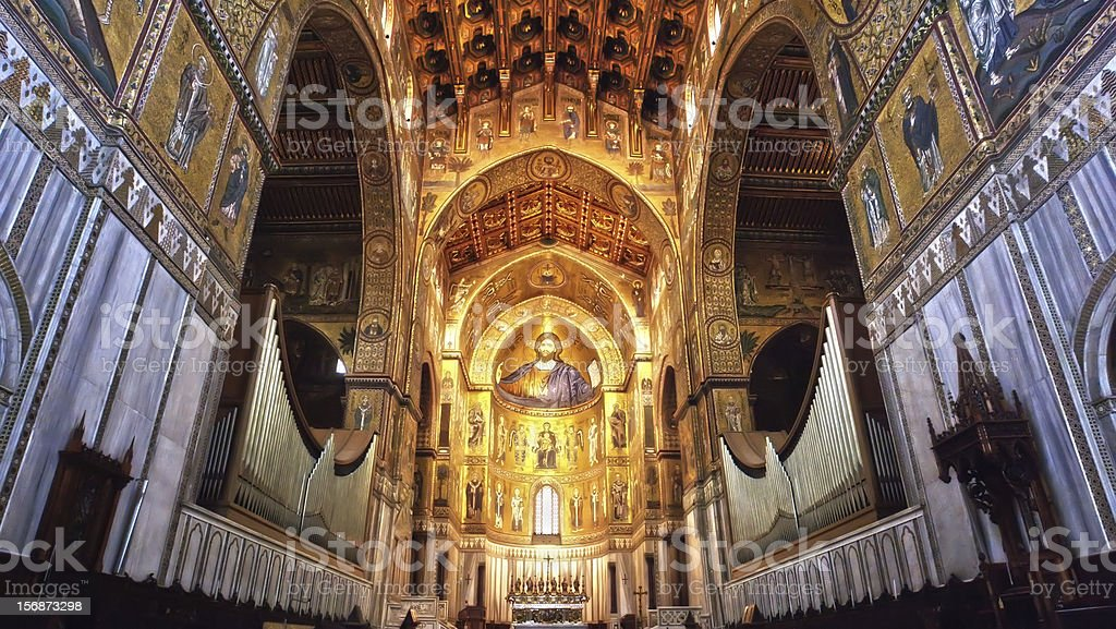 Photomerge Cathedral of Monreale- Palermo-Sicily royalty-free stock photo