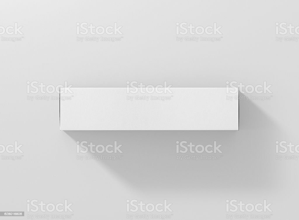 Photorealistic high quality Long Rectangle Package Box Mockup. stock photo
