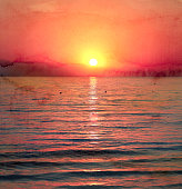 Photos bright sunset