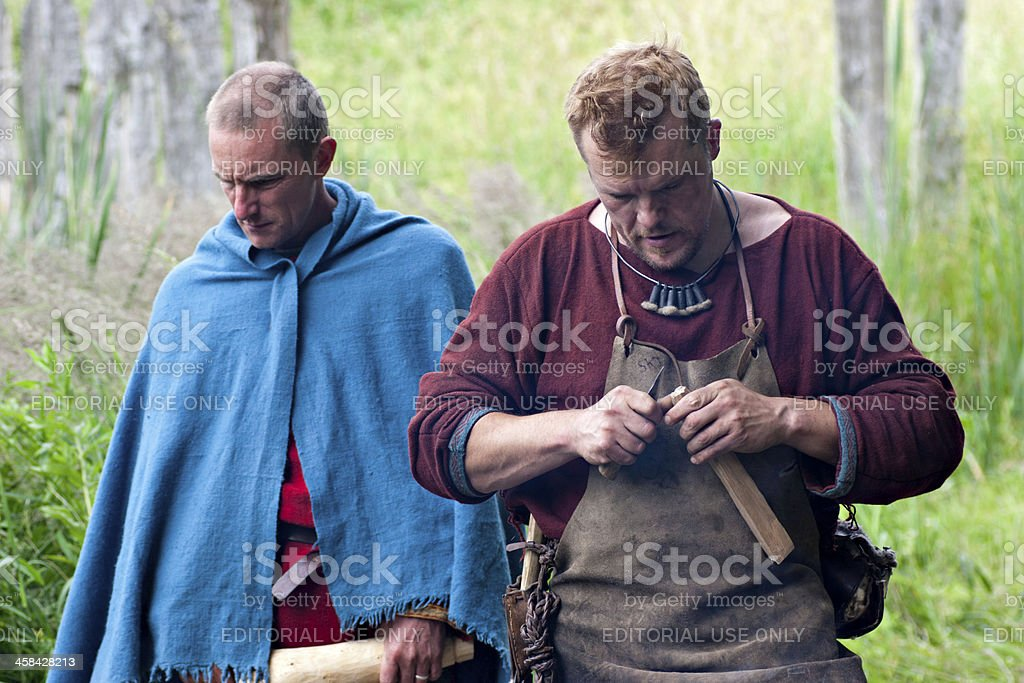 Photos from Iron Age Village, Sagnlandet Lejre, Denmark stock photo