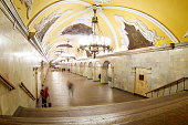 Photos in the Moscow metro