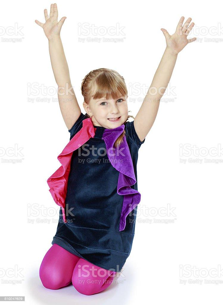Photos de jeunes filles dans la crèche. photo libre de droits