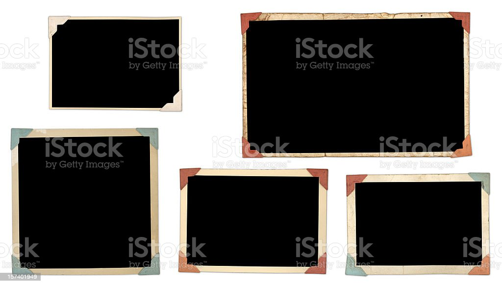 Photos with corner tabs stock photo