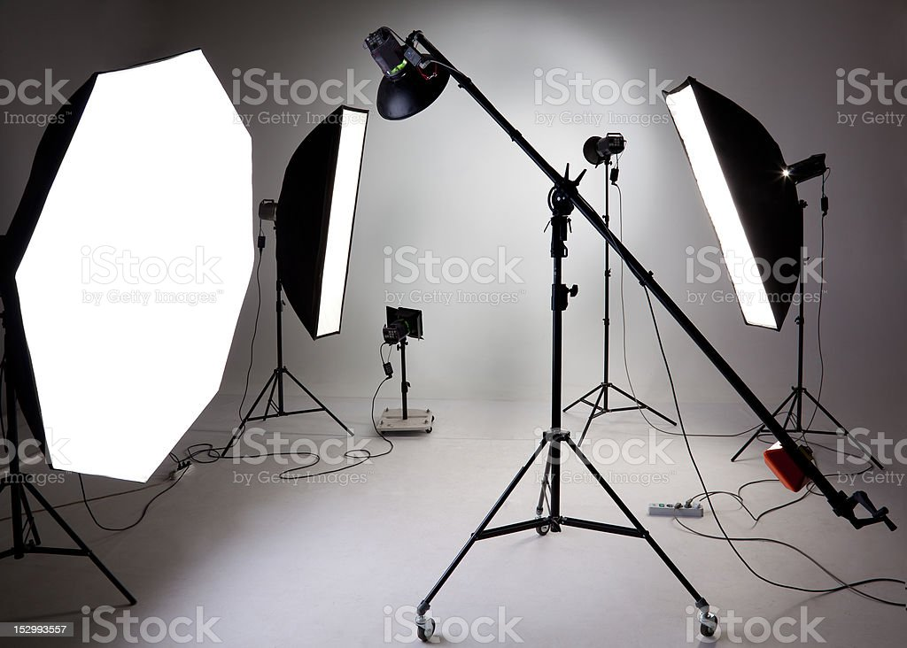 Photostudio equipment stock photo