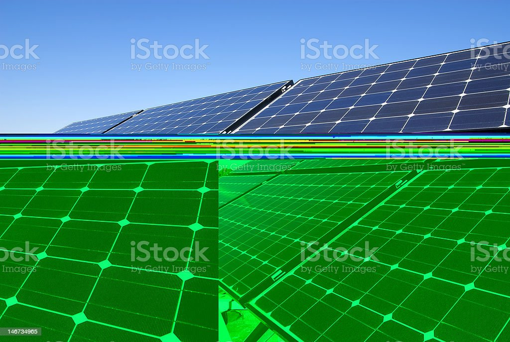 photovoltaic boards stock photo