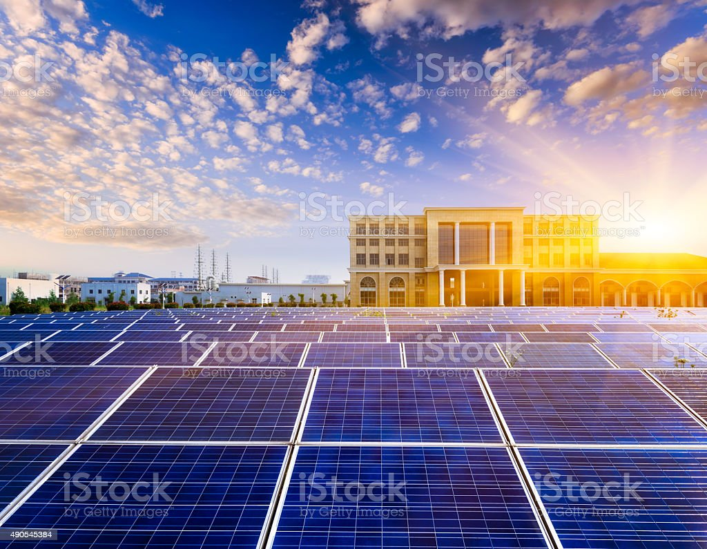 photovoltaic cells stock photo