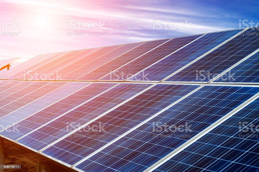 photovoltaic cells stock photo