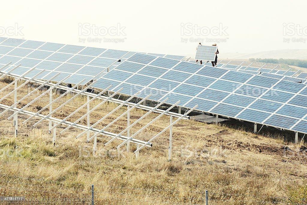 Photovoltaic installing royalty-free stock photo