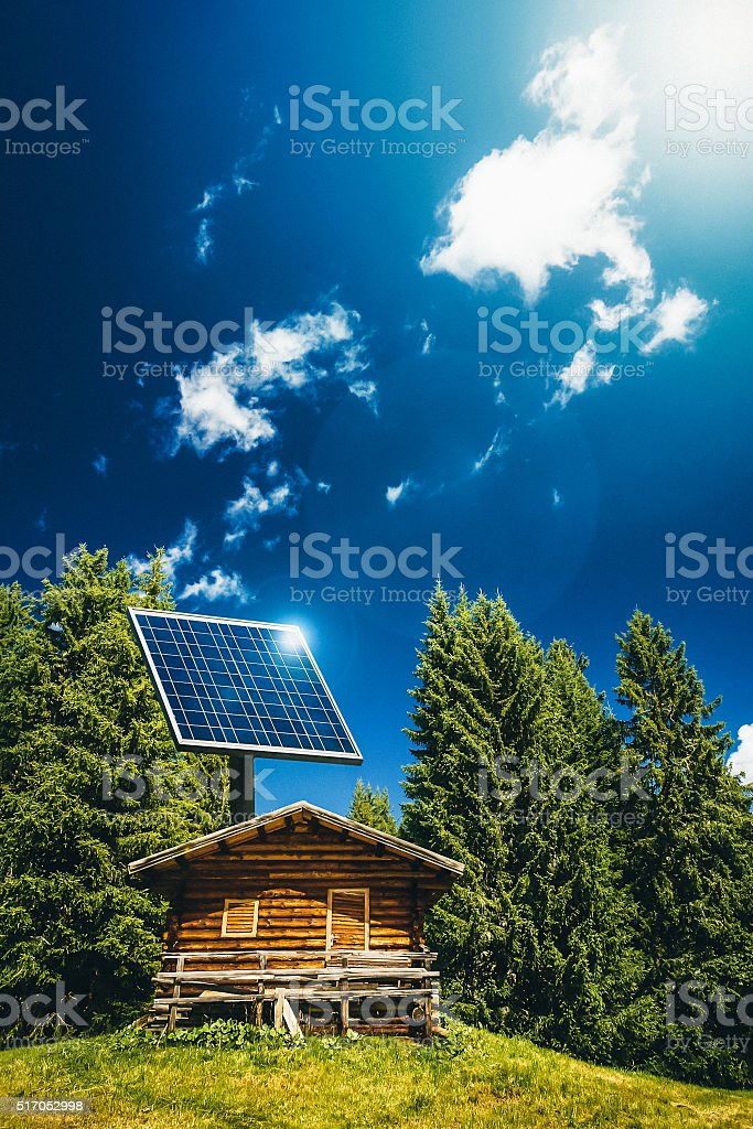 Photovoltaic Panel Renewable Energy: the sustainable home stock photo