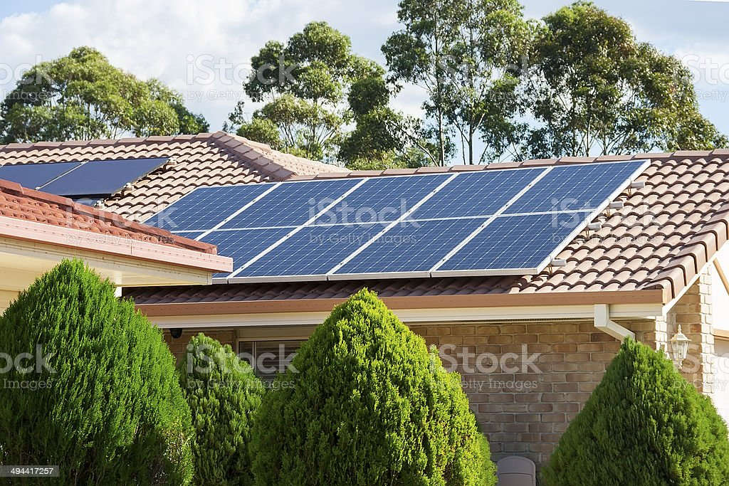 Photovoltaic panels stock photo