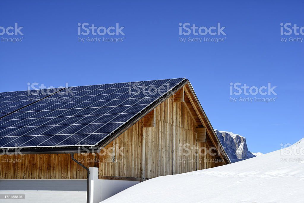 Photovoltaic Roof stock photo