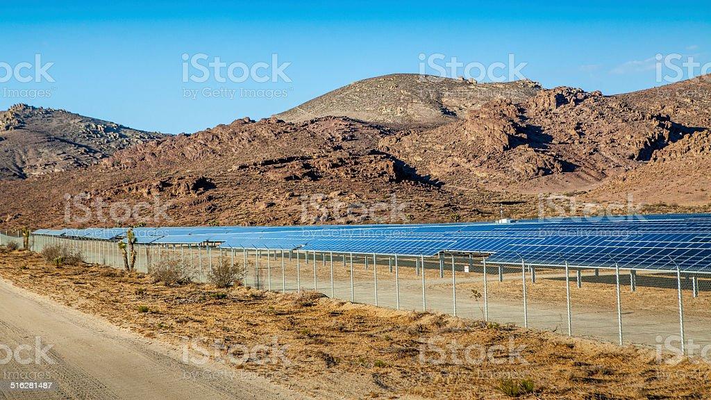 Photovoltaic Solar Array In Rosamond, California stock photo