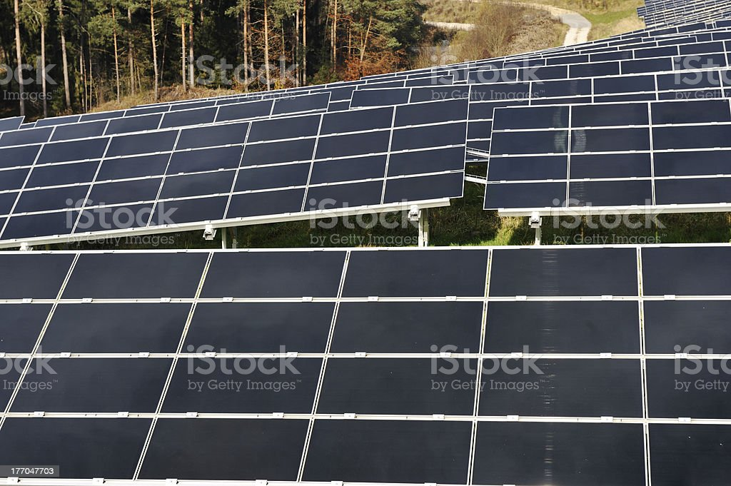 photovoltaic solar panels royalty-free stock photo