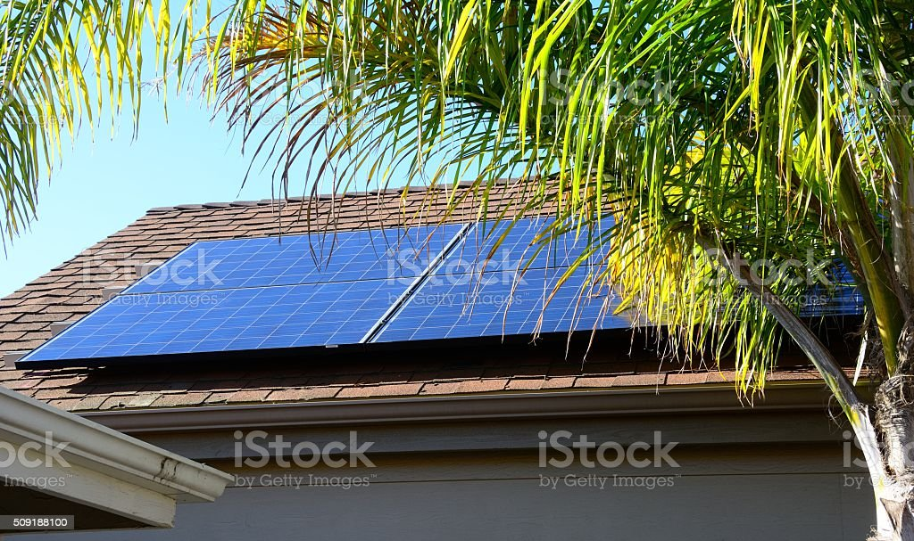 Photovoltaic Solar Panels stock photo