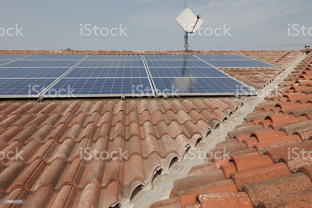 Photovoltaic solar power plant royalty-free stock photo