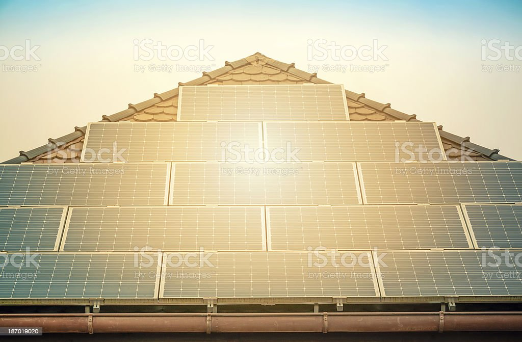 photovoltaic system stock photo