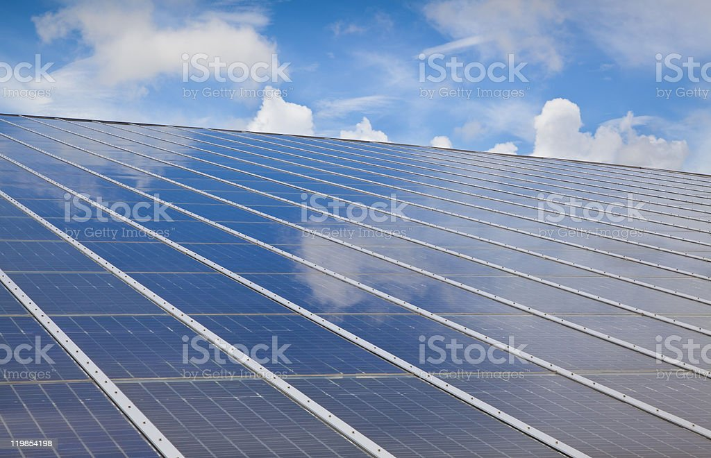photovoltaic with cloud royalty-free stock photo