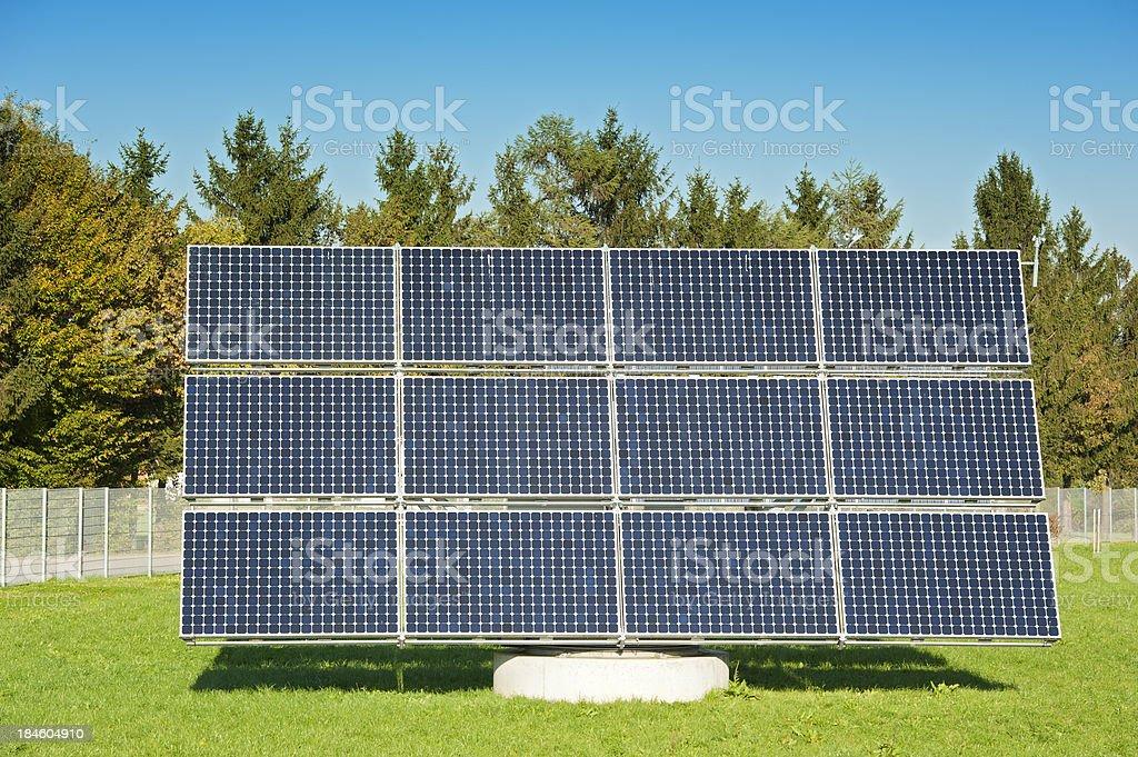 Photovoltaik - renewable and green engery: closeup of solar panel stock photo