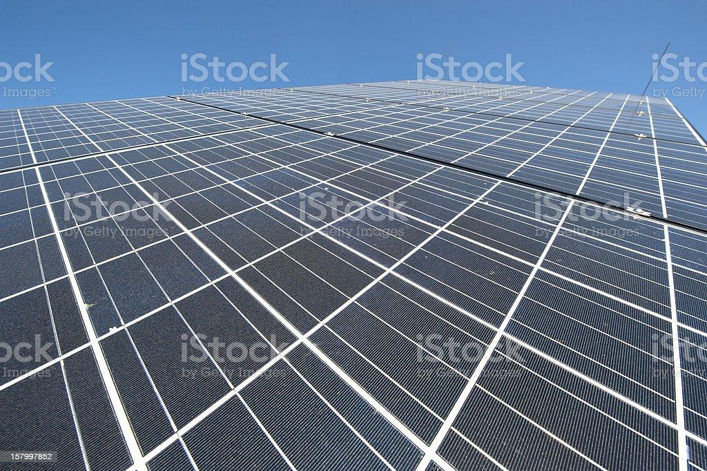 Photovoltaik - renewable engery: closeup of solar panel stock photo