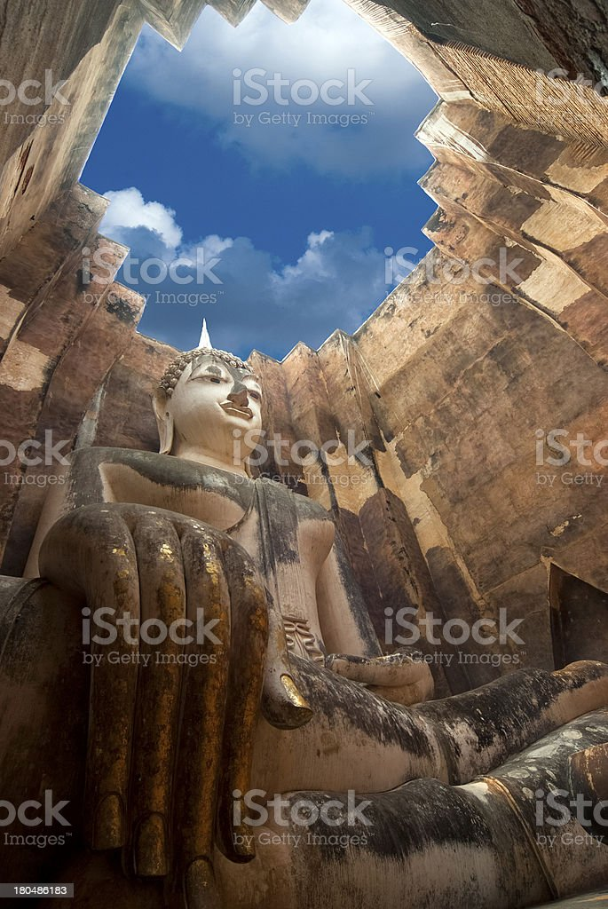 Phra Ajana at Wat Si Chum, Sukhothai stock photo
