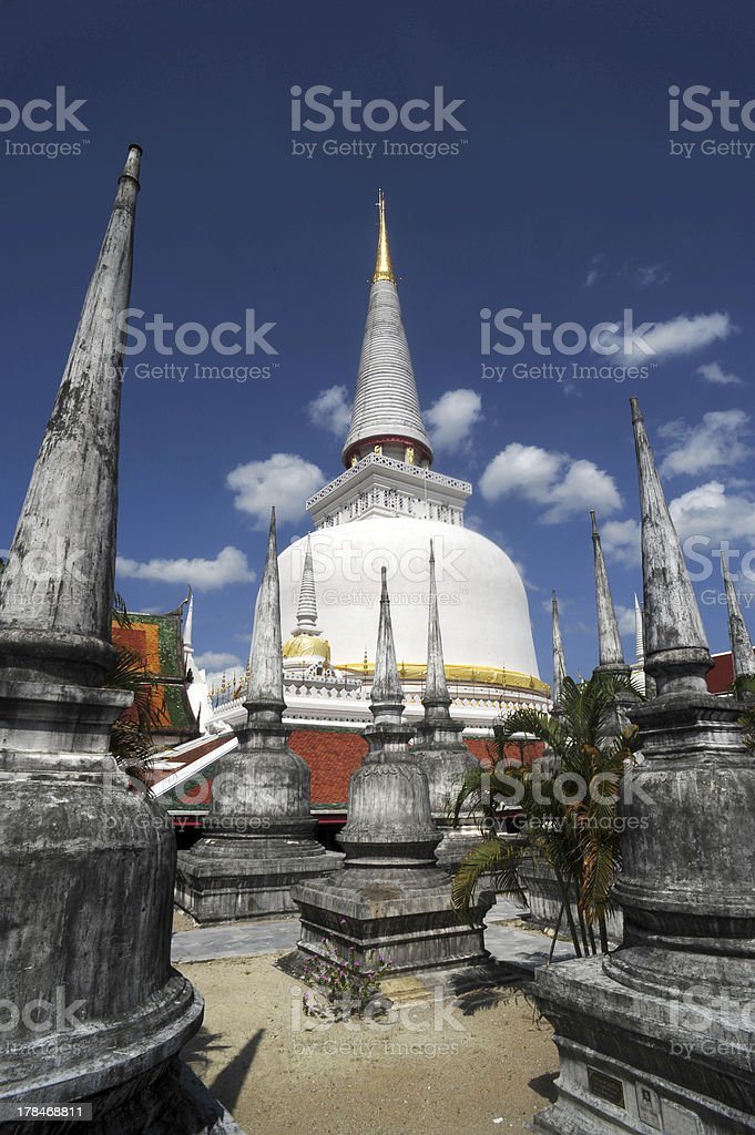 Phra Baromathat Chedi in Nakorn Sri Thammarat stock photo