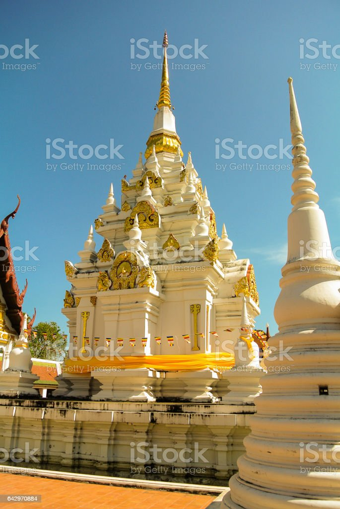 Phra Borommathat Chaiya stock photo