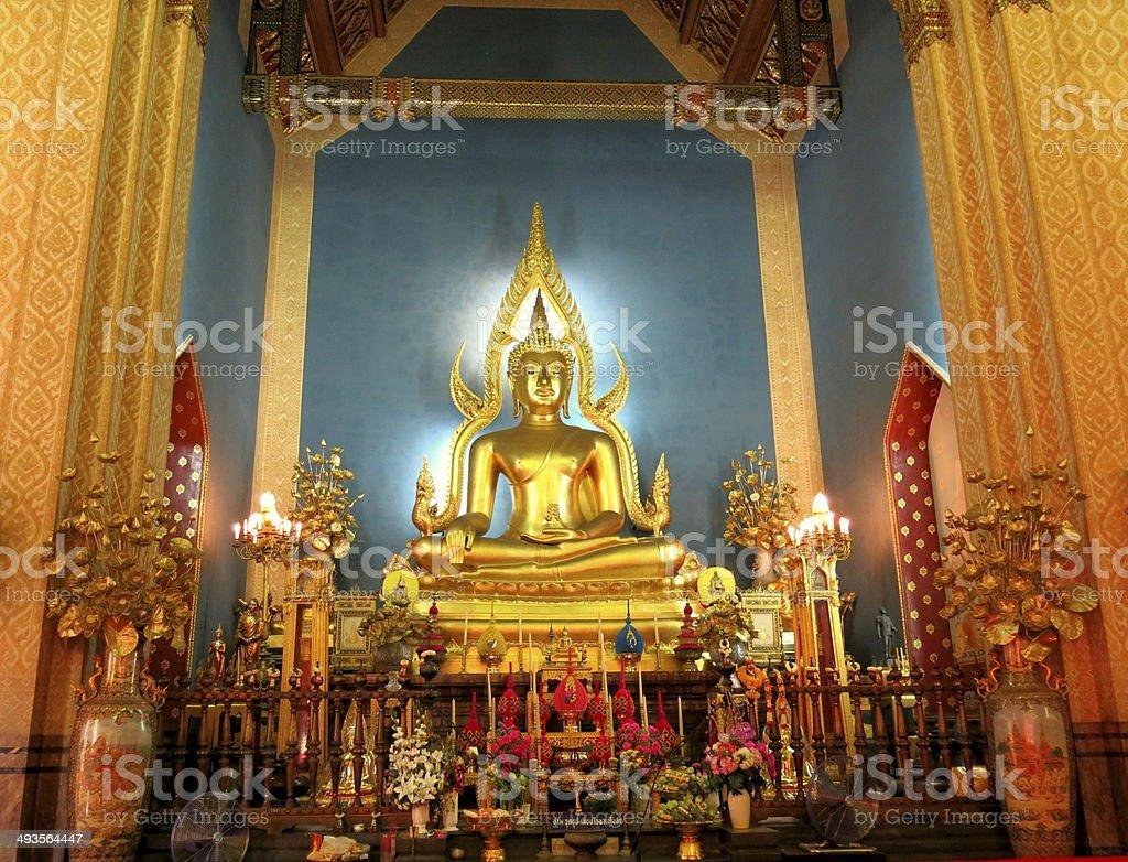 Phra Buddhajinaraja Statue in Marble Temple stock photo