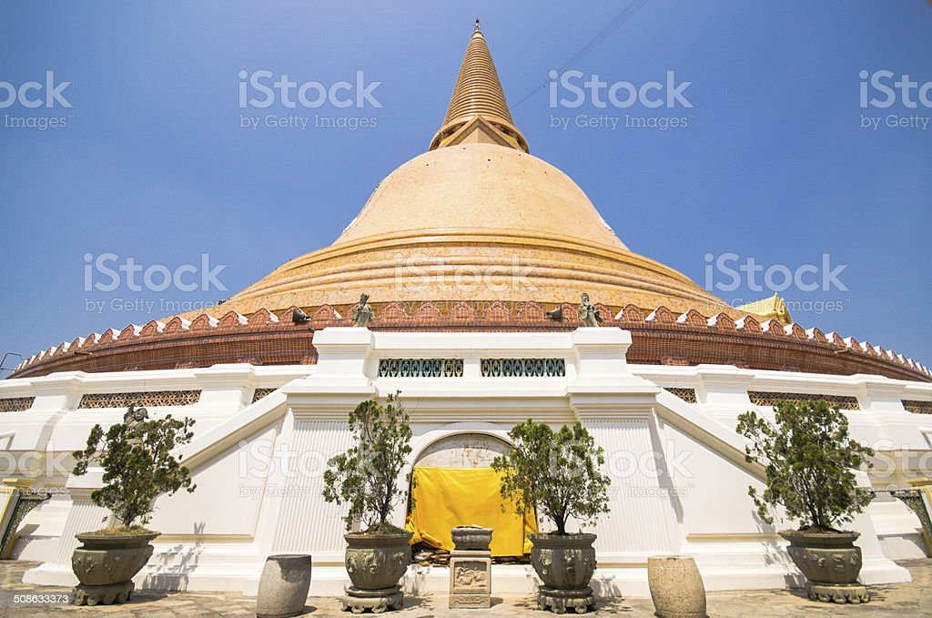 Phra  Chedi temple in Nakhon Pathom Province, Thailand. stock photo