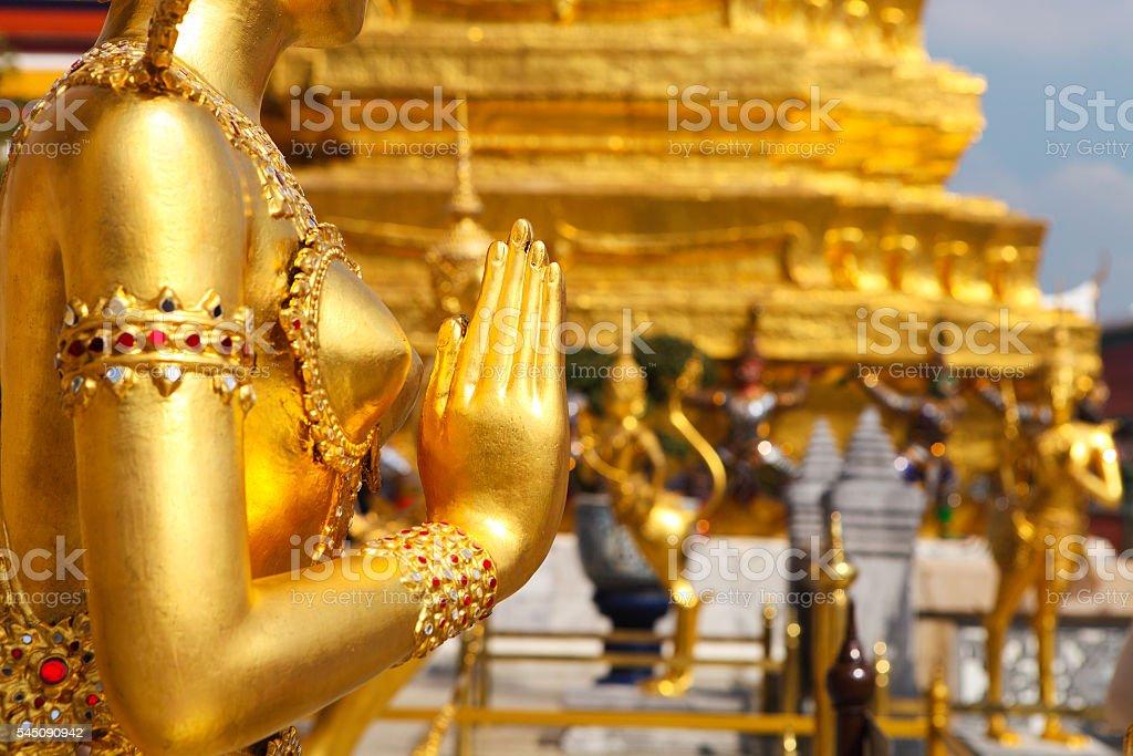 Phra Kaeo, Temple of the Emerald Buddha,Bangkok Thailand stock photo