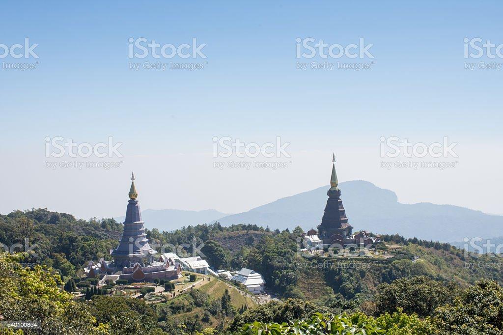 Phra Maha Dhatu Nabhamethanidol and Nabhapolbhumisiri stock photo