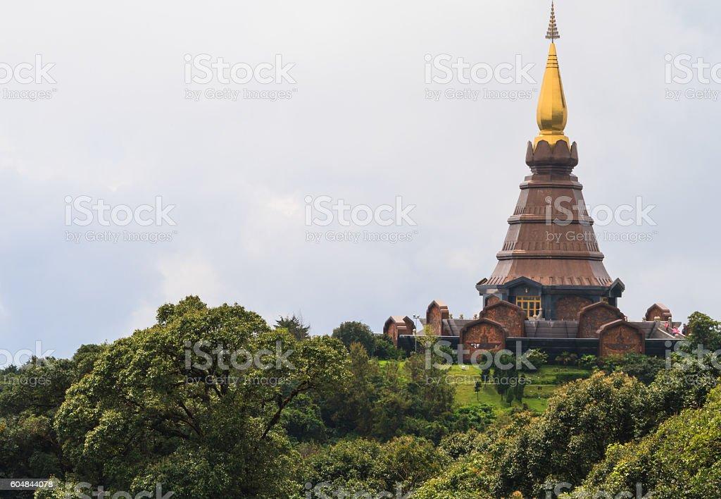 Phra Maha Dhatu Naphamethanidon,Pagoda. stock photo