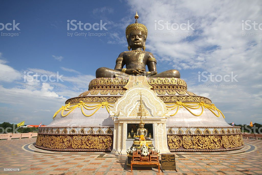 Phra Maha Thammarachathirat monument stock photo