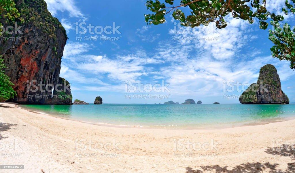 Phra Nang beach near Railay beach stock photo