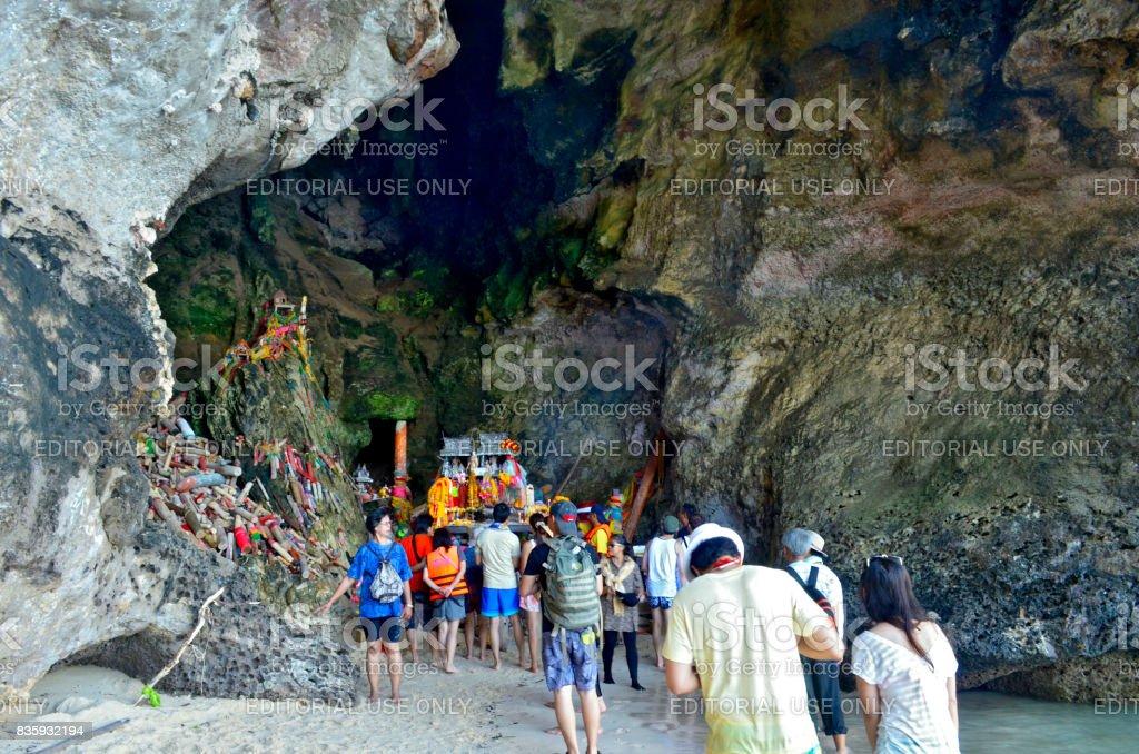 Phra Nang Princess Cave stock photo