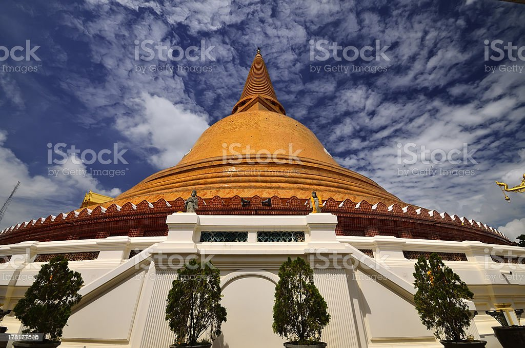 Phra Pathom Chedi during Daytime royalty-free stock photo